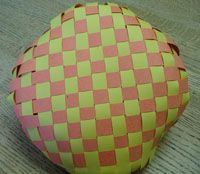 woven paper basket - Google Search