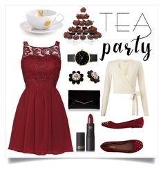 """""""Tea Party"""" by lucysefco on Polyvore featuring Miss Selfridge, Jonathan Adler, Lipstick Queen, Furla and Kate Spade"""