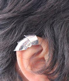 Armor Ear Cuff, Armor Jewelry, Medieval, Dragon Scale Ear Cuff, Non Piercing, Upper Cartilage Ear Cuff, Gothic, Steampunk, Cosplay, Elf Ear