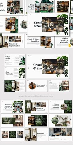 Layout design with lots of white space and greens Design Powerpoint Templates, Ppt Design, Slide Design, Flyer Template, Booklet Design, Design Layouts, Design Posters, Brochure Template, Indesign Presentation