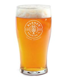 Barnett and Son Brewing Co. Glass