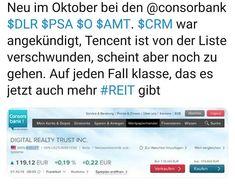 Neue Chancen bei der #consorsbank #dlr #psa #o #amt #reit Instagram, First Class, Money