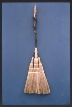 Fancy Triple-Sweep Broom. Handmade. Friendswood Brooms.
