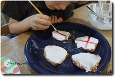 painting St George day biscuits
