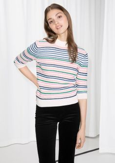 & Other Stories | Organic Cotton Multi-Stripe Sweater