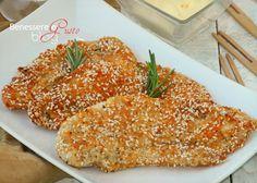 PETTO DI POLLO AL SESAMO Asian Chicken Recipes, Asian Recipes, Ethnic Recipes, I Love Food, Good Food, Sesame Chicken, Macaroni And Cheese, Food And Drink, Tasty