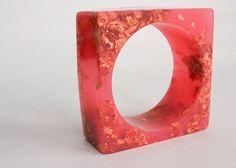 resin + copper leaf bangle