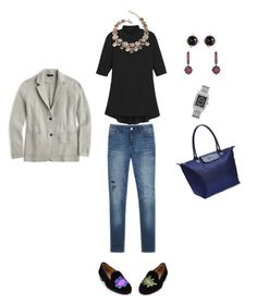 """""""More Outfit and Packing Ideas"""" by bichonluvr ❤ liked on Polyvore featuring Longchamp, J.Crew, Irene Neuwirth and Michele"""