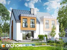 Projekt domu Dom pod miłorzębem 9 (BN) - ARCHON+ Townhouse Designs, Modern House Design, Home Fashion, New Homes, Exterior, Mansions, House Styles, Home Decor, Haus