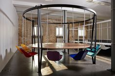 Can't stop people from falling asleep at meetings or dinner parties? Duffy London's brilliant King Arthur Swing Table will keep things swinging beautifully.Duffy London's King Arthur Swing Table keeps folks from being Excali-bored