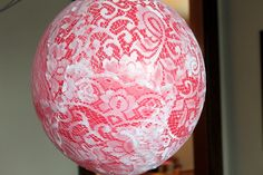 Vintage balloons- covered in doilies. Tutorial included~