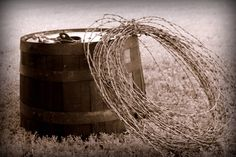 Hum, this would look good with a wagon wheel. Country Western Decor, Western Chic, Country Life, Southwest Home Decor, Country Fences, Horseshoe Crafts, Western Homes, Prim Decor, Barbed Wire