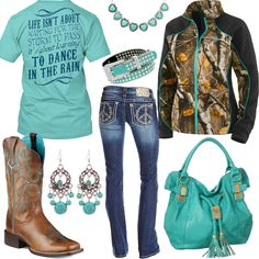 Dance In The Rain Camo Jacket Outfit - Real Country Ladies
