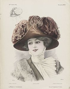 French millinery print 1909