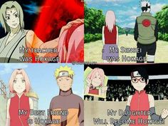 Sakura, surrounded by Hokages ♥