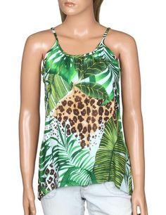 fa1ee118f37 High Low Women Hawaiian Blouse Leopard Dream  RJ-W406O-TF High Low