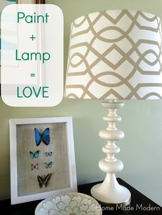 another old lamp painted! Home Made Modern: Spray Paint + Lamps = LOVE