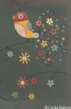 Etsy Bird Series 2 by Linda Solovic, via Behance