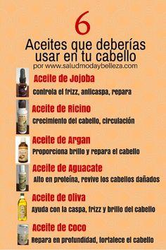 Estos aceites penetran el cabello y estimulan el cuero cabelludo.