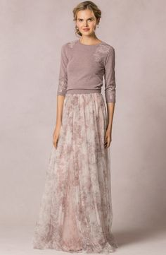 """Arabella"" Watercolor Garden Skirt + ""Paisley"" Sweater"