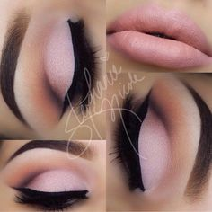 pink and matte eyeshadow look