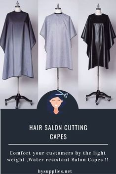 Comfort your customers with the right kind of Haircutting salon capes. Get fluid-resistant and Professional salon capes from HY Supplies Inc !! #saloncapes #saloncapeswholesale #haircuttingsaloncapes #hairsaloncapes #haircuttingcapes