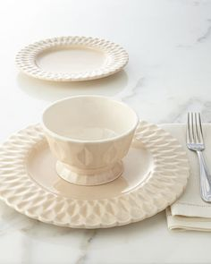 12-Piece Quilted Dinnerware Service by NM EXCLUSIVE at Neiman Marcus.