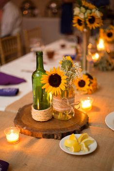 Uber Chic & Affordable Roka Ceremony Decor Ideas at Home (Within Sunflower Wedding Centerpieces, Diy Centerpieces, Diy Wedding Decorations, Ceremony Decorations, Diy Your Wedding, Home Wedding, Budget Wedding, Wedding Table, Wedding Ideas