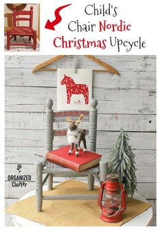 Rustic Barn Red Child's Chair Gets A Christmas Nordic Makeover – Diy Poject Ideas