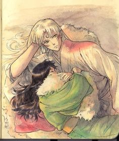 Sesshomaru and Rin fanart, ahhh i love love LOVE this ^_^