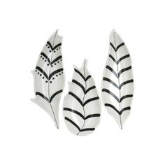 Nate Berkus Painted Feather Stoneware Trinket Dish Tray - Set of 3 Feather Painting, Feather Art, Feather Design, Nate Berkus, Candle Containers, Dish Sets, White Feathers, Duvet Cover Sets, 3 Piece