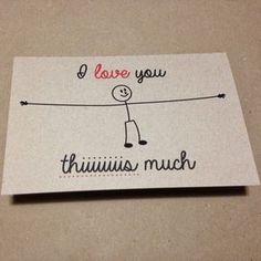 Tarjeta para San Valentín: I love you this much