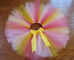 MBC: How to make a tutu using ribbon for the waist band. Too cute!!