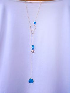 Beautiful twist on a lariat necklace