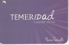 """""""Caligrafías mínimas"""", ed. Libros en la tecla."""