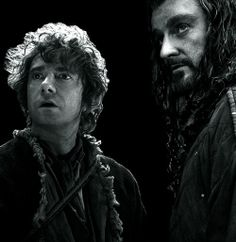 Bilbo Baggins and Thorin Oakenshield.