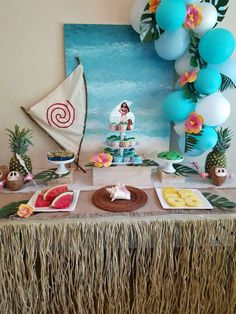 Moana Birthday Party Ideas | Photo 1 of 7 | Catch My Party
