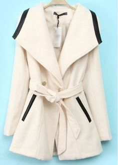 Trendy Turndown Collar Long Sleeve Coat for Woman