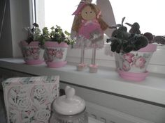 My handmade Decoupage, Planter Pots, Handmade, Hand Made, Handarbeit