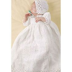 I love this! Ravelry: Christening Set pattern by Coats & Clark