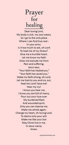 This prayer for healing will help you see God's mercy in all things. Go to Him.