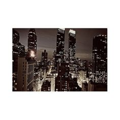\'nyc After Dark' by Ariane Moshayedi Ready to Hang Canvas Wall Art,... ($80) ❤ liked on Polyvore featuring home, home decor, wall art, black, photography wall art, canvas wall art, black canvas wall art, trademark fine art and nyc canvas wall art