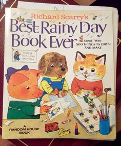 Richard Scarry Books, I loved loved loved this book