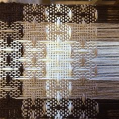 8 shaft, 8 treadle, alpaca warp and weft. Weaving on a J-made loom. Thanks Clemes and Clemes!