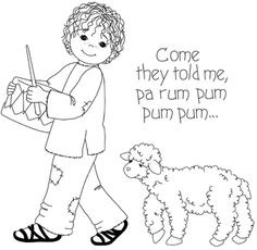 Little Drummer Boy Coloring Pages #1