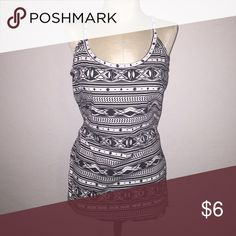 Tribal print tank New without tags. Never worn. B&W Tribal printed tank. Juniors size. No Boundaries Tops Tank Tops