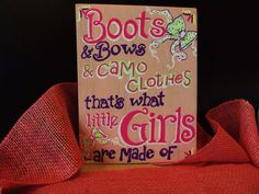 Girls+room+decor+accent+for+those+who+like+boots%2C+bows+%26+CAMO+clothes%21+Handpainted+in+choice+of+color+combos%2C+whimsical+and+trendy%2C+too%21
