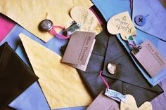 These are some cute Envelope Upcycled Leather clutch bags, Photographed by Rebecca Palmer...and made by me!
