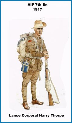 British Empire; 7th Infantry Battalion Australian Imperial Force(AIF) Lance Corporal Harry Thorpe, 1917
