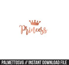 princess rose gold clip art, Svg, Cricut Cut Files, Silhouette Cut Files  This listing is for an INSTANT DOWNLOAD. You can easily create your own